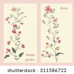vector set with vintage flowers | Shutterstock .eps vector #311586722