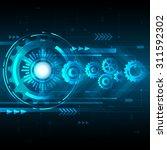 vector abstract engineering... | Shutterstock .eps vector #311592302