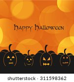 beautiful abstract halloween... | Shutterstock .eps vector #311598362