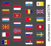 world flags collection  europe  ... | Shutterstock .eps vector #311607278