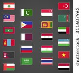 world flags collection  asia ... | Shutterstock .eps vector #311607962
