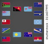 world flags collection  oceania.... | Shutterstock .eps vector #311607995
