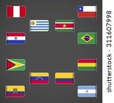 world flags collection  south... | Shutterstock .eps vector #311607998