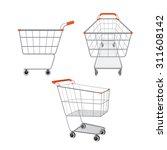 empty shopping carts set  goods ... | Shutterstock .eps vector #311608142