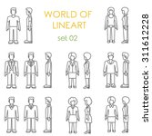 people icons graphical linear... | Shutterstock .eps vector #311612228