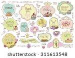 bakery vintage badges labels...   Shutterstock .eps vector #311613548