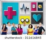 healthcare check up medical... | Shutterstock . vector #311616845