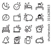 sleep  icon symbol illustration ... | Shutterstock .eps vector #311628815