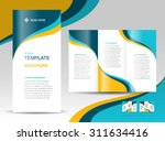 brochure design template wave...