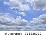 a lot of cloudy in the nature... | Shutterstock . vector #311636312