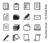 paper   stationery icon set | Shutterstock .eps vector #311636966