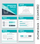 business presentation templates ... | Shutterstock .eps vector #311644382