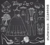 Wedding Day Elements. Hand...