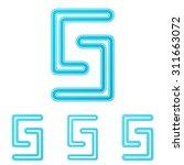 cyan line science logo design...