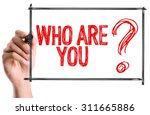 hand with marker writing the... | Shutterstock . vector #311665886