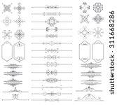 vector illustration of a set of ... | Shutterstock .eps vector #311668286