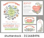 wedding design template set... | Shutterstock .eps vector #311668496