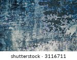 Detailed closeup of colorful rusty sheet of old metal - stock photo