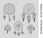 vector dream catcher. hand... | Shutterstock .eps vector #311672366