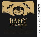halloween party design template ... | Shutterstock .eps vector #311677472