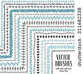 hand drawn decorative vector... | Shutterstock .eps vector #311682338
