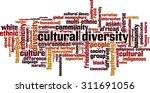 cultural diversity word cloud... | Shutterstock .eps vector #311691056