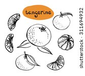 Tangerine  Set Of Isolated...
