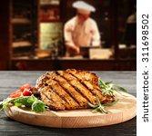 Interior Cook Restaurant Kitchen Steak - Fine Art prints