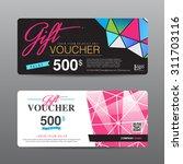 vector illustration gift... | Shutterstock .eps vector #311703116