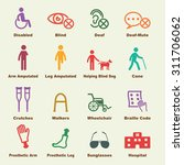 disabled elements  vector... | Shutterstock .eps vector #311706062