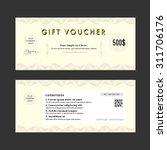 gift voucher elegant design... | Shutterstock .eps vector #311706176