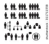 people vector  team icon set | Shutterstock .eps vector #311711558