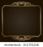 calligraphic retro vector gold... | Shutterstock .eps vector #311721218