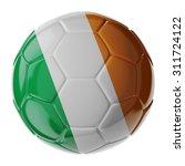 Football Soccer Ball With Flag...