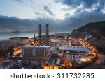 power station at dusk | Shutterstock . vector #311732285