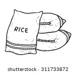 sac of rice   cartoon vector... | Shutterstock .eps vector #311733872
