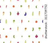 mixed vegetables seamless... | Shutterstock .eps vector #311739752
