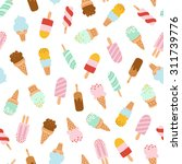 assorted ice cream seamless... | Shutterstock .eps vector #311739776