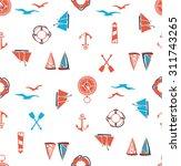 seamless nautical pattern   Shutterstock .eps vector #311743265