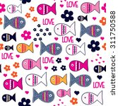 seamless childish pattern with... | Shutterstock .eps vector #311750588