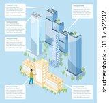 the door to the big city...   Shutterstock .eps vector #311752232