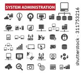 system administration black... | Shutterstock .eps vector #311753216