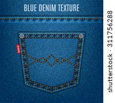 jeans blue texture fabric with... | Shutterstock .eps vector #311756288