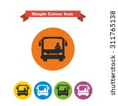 icon of bus with bus driver ... | Shutterstock .eps vector #311765138