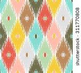 seamless vintage pattern ikat.... | Shutterstock .eps vector #311770808