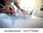 business documents on office... | Shutterstock . vector #311773082