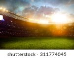 evening stadium arena soccer... | Shutterstock . vector #311774045