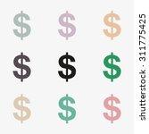 set of nine dollar signs in... | Shutterstock .eps vector #311775425