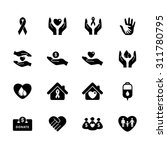 charity icon. donation icon....   Shutterstock .eps vector #311780795