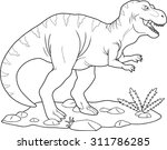 tyrannosaurus | Shutterstock . vector #311786285